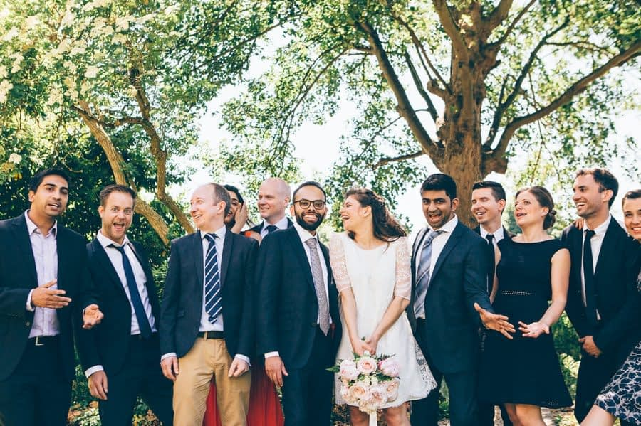 Wedding Group Photo, Bingham Riverhouse Wedding Photographer, Richmond Upon Thames, Surrey Wedding Photographer, Female Wedding Photographer