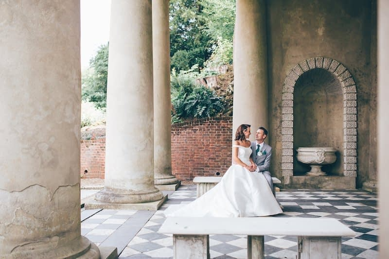 Wedding photographer Surrey Richmond Female Wotton House Wedding photography Italian Gardens Venue