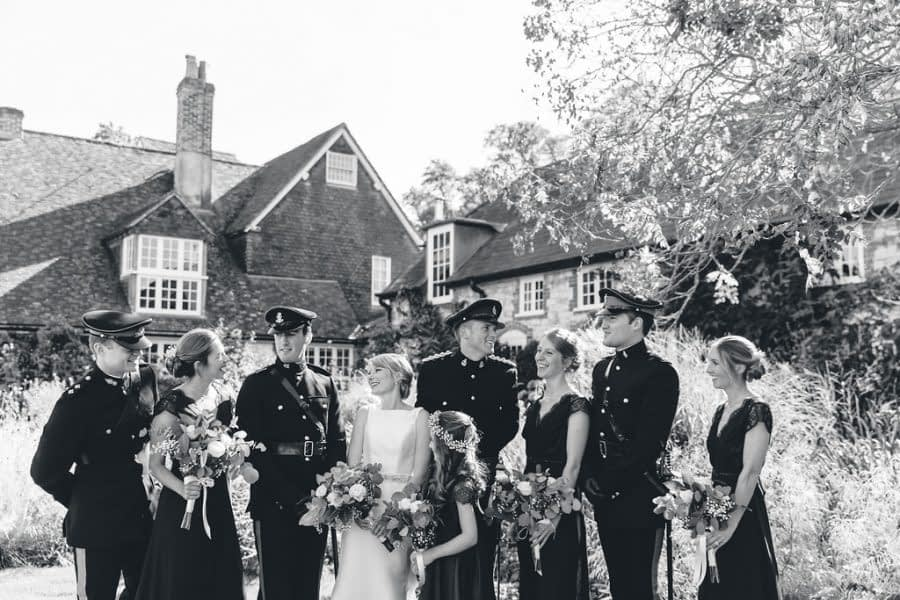 wedding group photo, bury court barn wedding photographer, female wedding photographer richmond, surrey wedding photographer